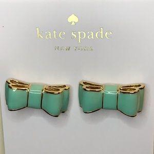 Kate Spade Moon River Mint Bow Stud Earrings